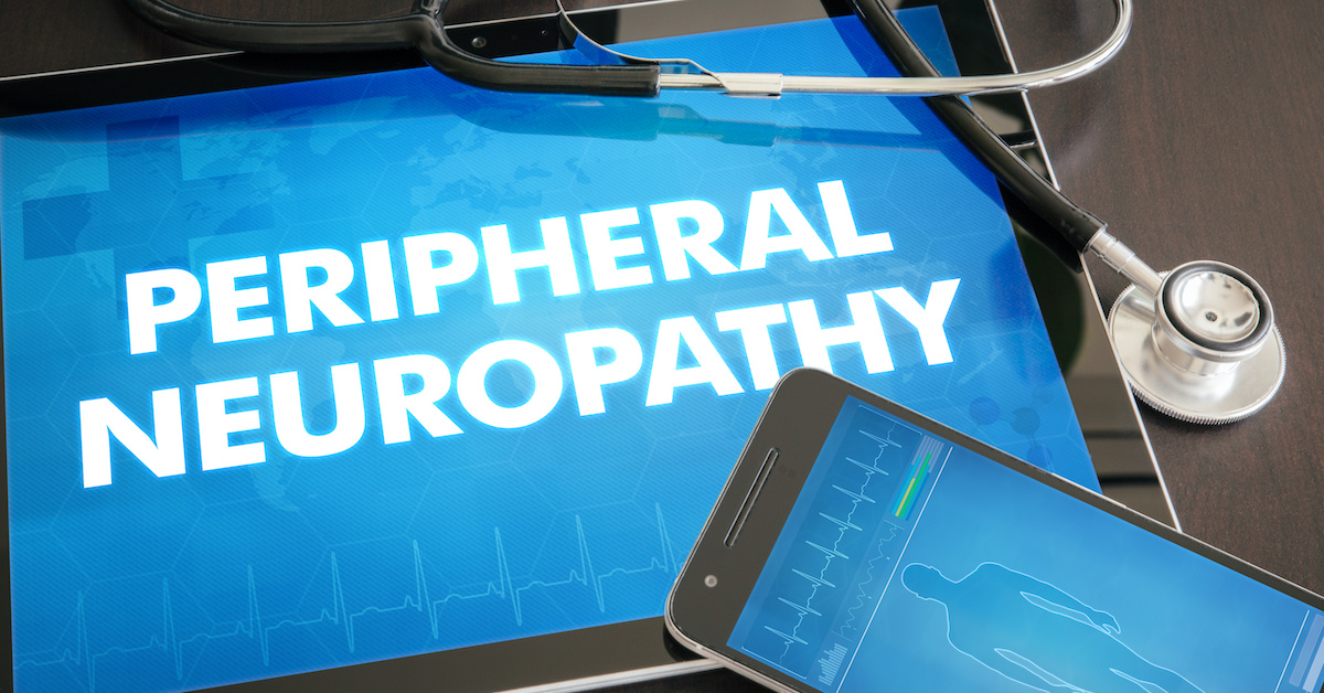 Peripheral neuropathy (neurological disorder) diagnosis medical concept on tablet screen with stethoscope; blog: Are There Different Types of Peripheral Neuropathy?